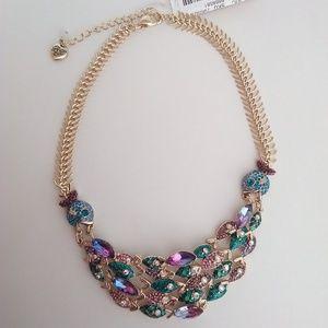 Betsey Johnson New Blue & Purple Fish Necklace